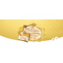 Kit Facial Mascarilla Hidratante + Mascarilla Para Ojos Oro (Entrega Inmediata)