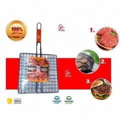 Asador Para Carne De Hamburguesas Parrilla Grilt Bbq (Entrega Inmediata)