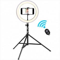 Aro Luz 26cm Celular Trípode 2m Bluetooth Led 3 Tonos 10 Niv (Entrega Inmediata)