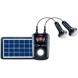 Kit Iluminación Solar: 2 Lámparas Led, Panel Solar, Batería (Entrega Inmediata)