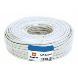 Cable De Red Utp Cat. 5e Para Interior Miokee, Rollo 100 Mts (Entrega Inmediata)
