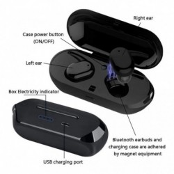 Audifonos Bluetooth Tws-4 Táctiles Microfono (Entrega Inmediata)