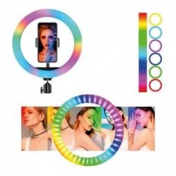 Aro De Luz Led Colores 26 Cm Fotografía Selfie + Trípode (Entrega Inmediata)