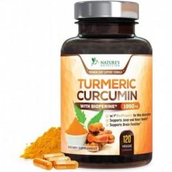 Curcuma Pimienta Negra 120 Cap Veganas Natures Nutrition (Entrega Inmediata)