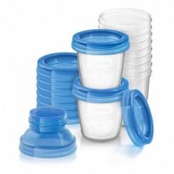 Avent Vasos Almacenamiento Leche Materna Reutilizables X10 (Entrega Inmediata)