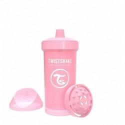 Vaso Entrenador Twistshake Kid Cup 12oz 360 Ml 12m+ Rosado (Entrega Inmediata)