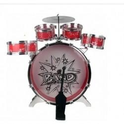 Batería Musical Big Bang 5 Tambores Y Silla Juguete Niños (Entrega Inmediata)