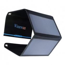 Cargador Panel Solar Portatil Winnewsun 28w 2 Usb 2.4a (Entrega Inmediata)