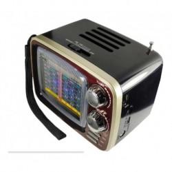 Radio Vitage Parlante Usb Recargable Bluetooth 8 Bandas (Entrega Inmediata)