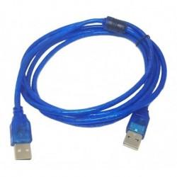 Cable Usb Tipo A Usb Macho - Macho Blindado 2mt Con Filtro (Entrega Inmediata)