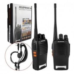 Radio Comunicación X 2 Baofeng Walkie Talkie Uhf 3 Baterías (Entrega Inmediata)