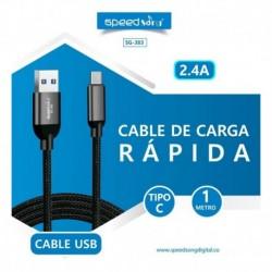 Cable Carga Rápida Sg-383 Tipo C De 2.4 Amp (Entrega Inmediata)