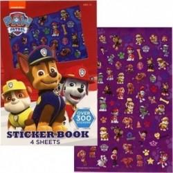 Paw Patrol Sticker Book, 4 Hojas - Más De 300 Pegatinas