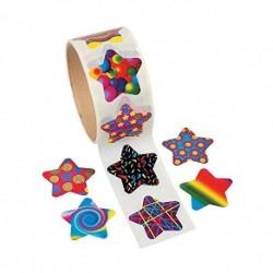 Funky Star Sticker Roll 100 Pegatinas