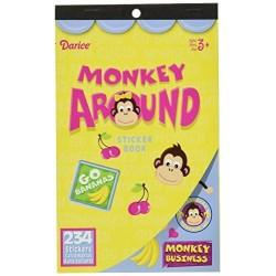 Velvet Sticker Book, Monkey Around, 234 Stickers