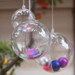Bolas Para Ornamento De Plastico Acrilico Transparente, Rell