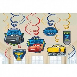 Disney Carros 3 Lighning Mcqueen Party Foil Hanging Swirl De
