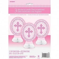 8 Radiante Cruz Rosa Centro Decoraciones Religiosas 3 Ct