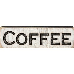 Tallada Señal De Cafe Tamaño 19 X 525