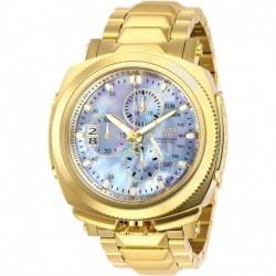 Reloj Invicta 29208 Hombre Reserve Quartz with Stainless Steel Strap, Gold, 26