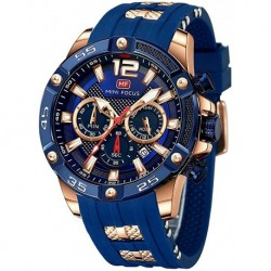 Reloj AM0349 Hombre Military Sports ?Waterproof,Luminous,Multifunction,Calendar?Silicon Strap for