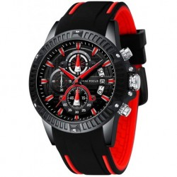 Reloj MF0244G Hombre Sports Military Analog Tactical Chronograph Waterproof Cool for Quartz Multifunction Luminous Calendar