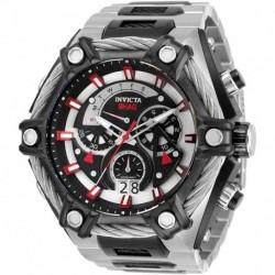 Reloj Invicta 33680 Hombre Shaq Quartz with Stainless Steel, Cable Strap, Silver, Black, 33.5