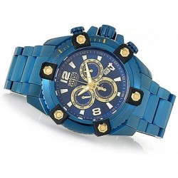 Reloj Invicta 27744 Reserve Hombre 63mm Grand Arsenal Blue Label Swiss Quartz Chronograph Bracelet