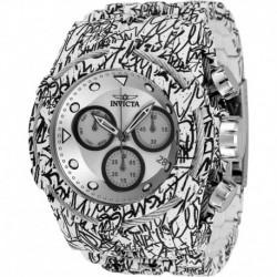 Reloj Invicta 34885 Hombre Bolt Quartz with Stainless Strap, Steel, White, Aqua Plating, 35