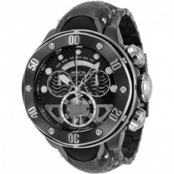 Reloj Invicta 33483 Hombre Reserve Swiss Quartz with Stainless Steel, Silicone Strap, Black, 30.4