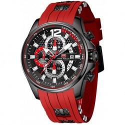 Reloj MF0350G Hombre Waterproof Sport Casual for Multifunction Chronograph Fashion Quartz Wrist Calendar with Silicon Strap