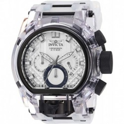 Reloj Invicta 29995 Hombre Bolt Stainless Steel Quartz with Silicone Strap, Black, Transparent, 34