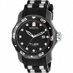 Reloj Invicta 23557 Hombre TI-22 Titanium Automatic-self-Wind with Silicone Strap, Black, 25