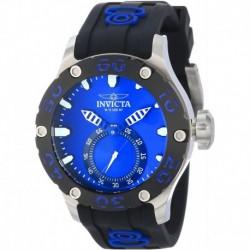 Reloj Invicta 12706 Hombre Russian Diver Blue Dial Black Silicone