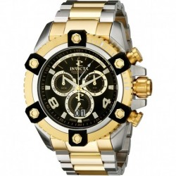 Reloj Invicta 0337 Hombre Arsenal Chronograph Black Dial Two Tone Stainless Steel