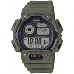 Reloj Casio AE-1400WH-3AVCF Hombre Classic Quartz Resin Strap, Green, 26.88 Casual
