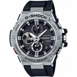 Reloj Casio GST-B100-1ACR Hombre 'G-Steel by G-Shock' Quartz Solar Bluetooth Connected Resin Dress , Color: Black