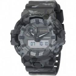 Reloj Casio GA-700CM-8ADR (G825) Hombre G-Shock GA700CM-8A Matte Grey Rubber Japanese Quartz Sport