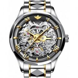 Reloj T-S-G3168SS-JH Swiss Brand Skeleton Automatic Mechanical Hombre Self Winding Sapphire Crystal Luxury Dress Stainless Steel Waterproof