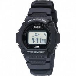Reloj Casio W-219H-1AVCF Quartz Fitness with Resin Strap, Black, 25.5