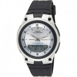 Reloj Casio EAW-AW-80-7AV Hombre AW80-7AV World Time Databank 10-Year Battery Black Band