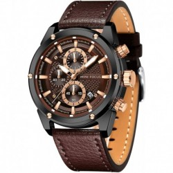 Reloj MF0161G Hombre Business Casual Wrist (Multifunction/Waterproof/Luminous/Calendar) Leather Strap Fashion for