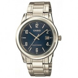 Reloj Casio MTP-VS01D-2B Hombre Standard Solar Powered Stainless Steel Date