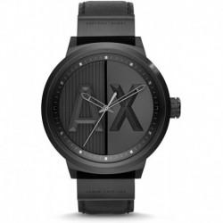 Reloj A|X Armani Exchange AX1366 AX Hombre Black Leather (Importación USA)