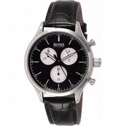 Reloj 1513543 Hugo Boss Companion Black Dial Leather Strap H (Importación USA)