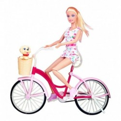 Muñeca 29cm Defa Lucy Bicicleta Glam Con Perrito Ref. 8276 (Entrega Inmediata)