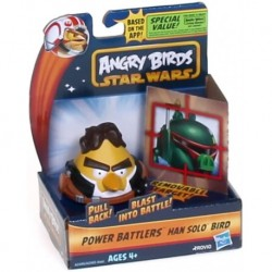 Figura Star Wars Angry Birds Power Battlers Han Solo Bird Ba (Importación USA)