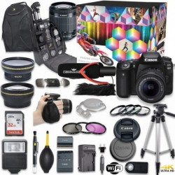 Cámara Digital Canon Combo EOS 90D DSLR Deluxe Video Kit EF-