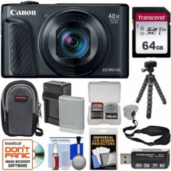 Cámara Digital Canon PowerShot SX740 HS Wi-Fi 4K Black 64GB