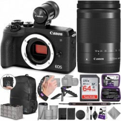 Cámara Digital Canon Combo EOS M6 Mark II Mirrorless and 18-